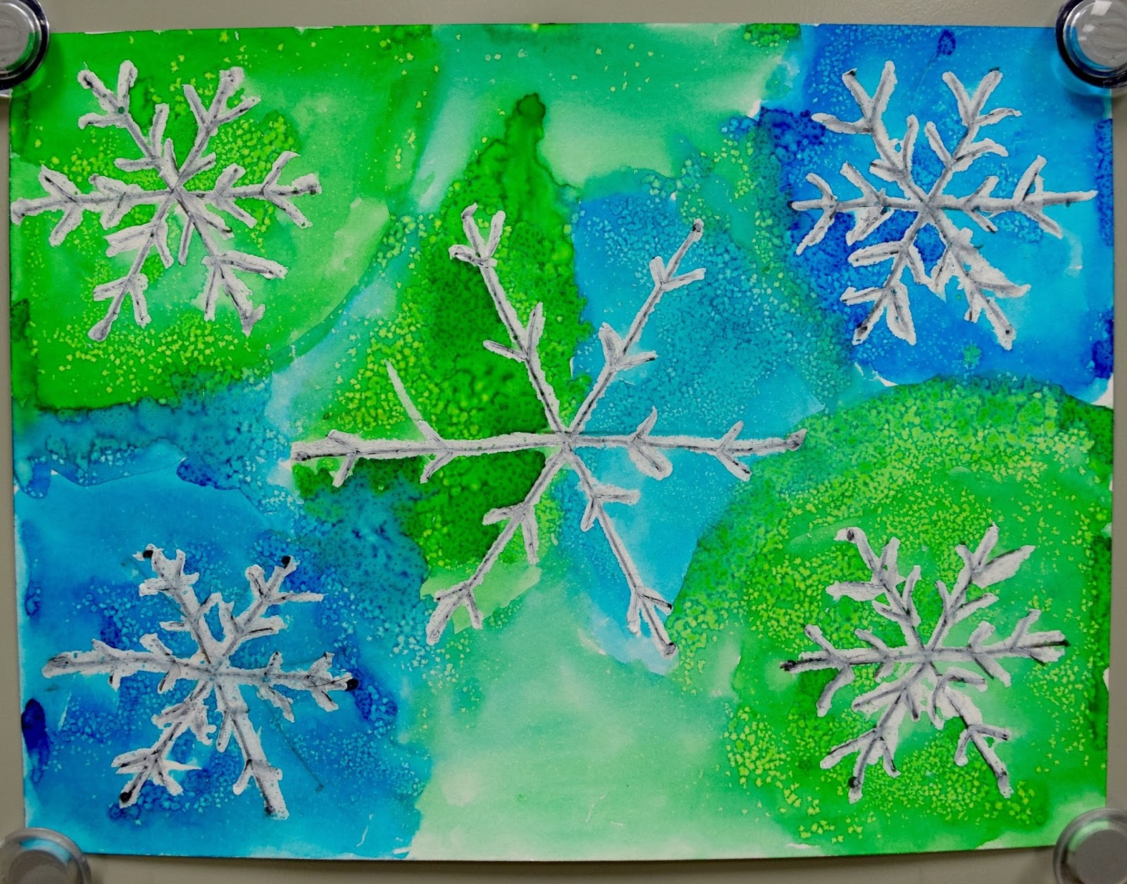 watercolor snowflakes 2 0  3rd