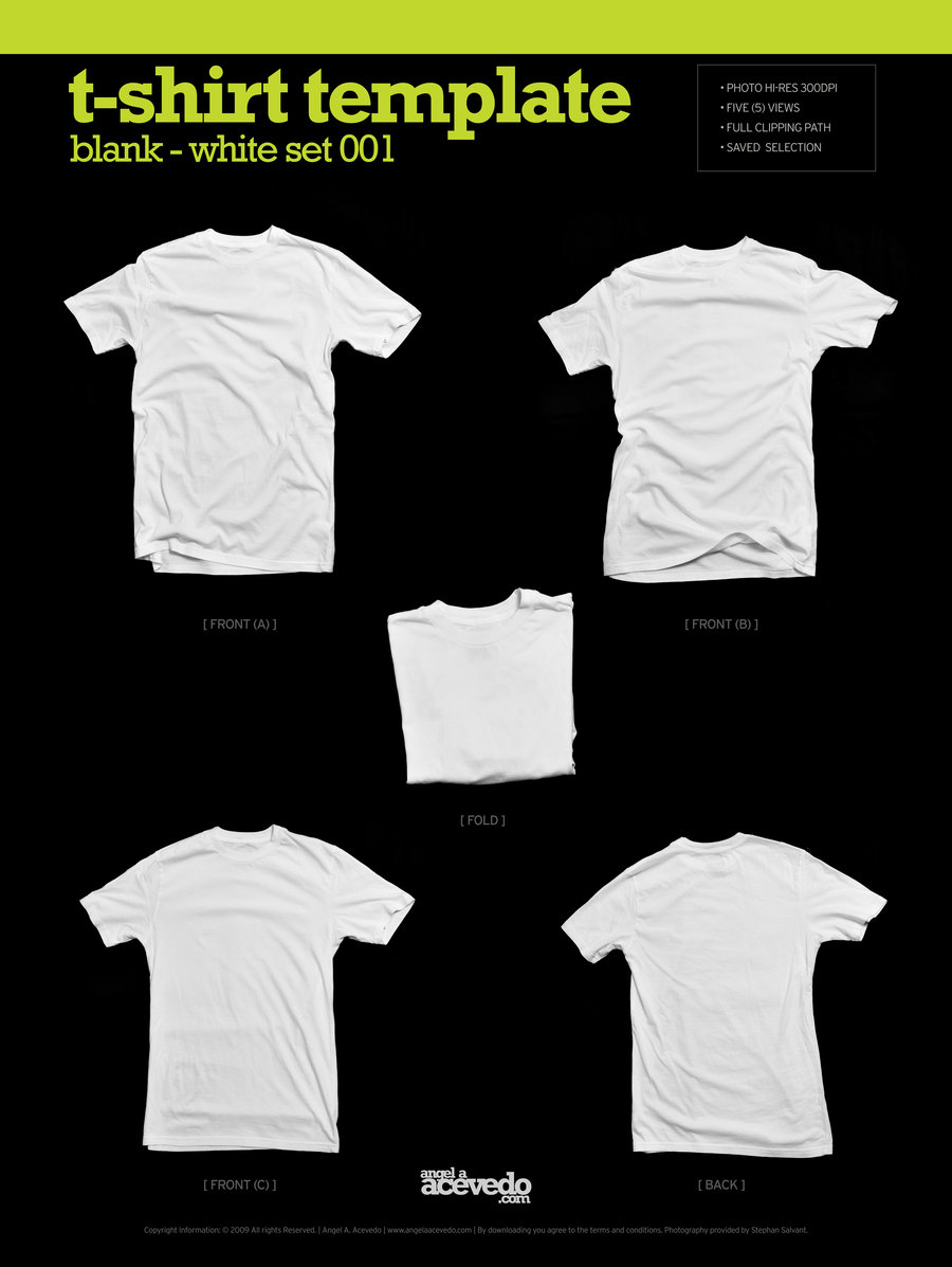 Blank Basic T-Shirt Template PSD