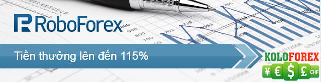 Roboforex bonus lên tới 115% khi ký quỹ