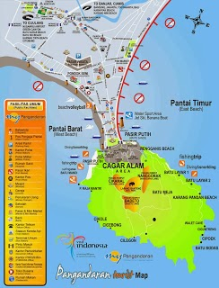 peta pantai pangandaran