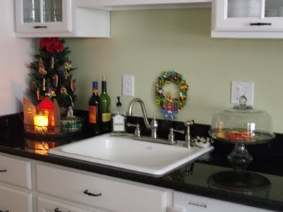 Simple vintage kitchen christmas ideas photos