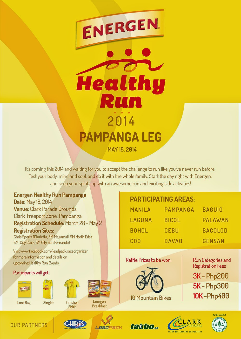 Energen Healthy Run May 18 2014 Pampanga Leg Pinoy Trend Visit Lead Pack Race Organizer Facebook Page For More Details And Latest Updates