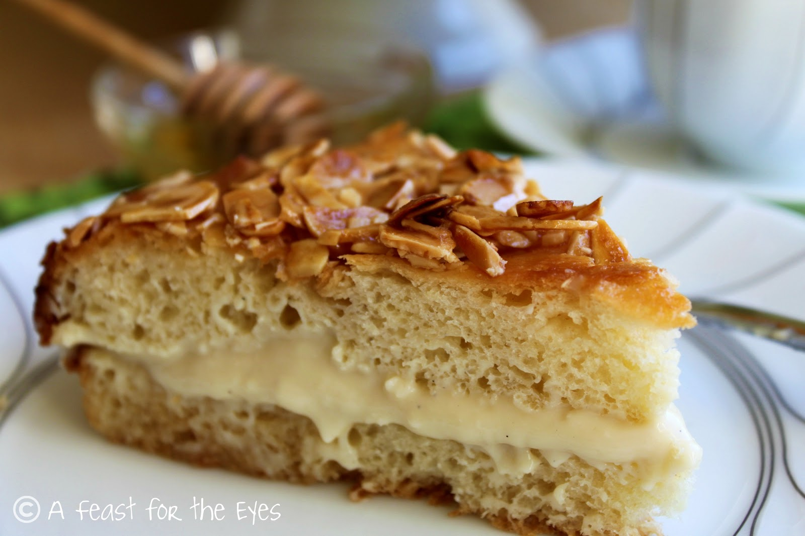 "A Feast for the Eyes: Bee Sting Cake - ""Bienenstich"" Kuchen"