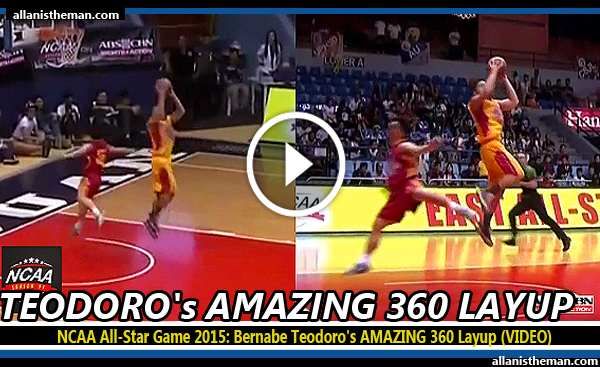 NCAA All-Star Game 2015: Bernabe Teodoro's AMAZING 360 Layup (VIDEO)