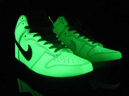 Glow In The Dark Nike Dunks High Tops Shoes