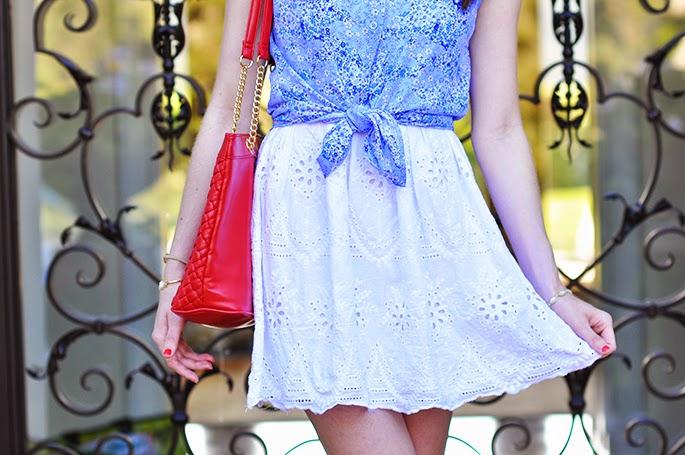 Forever21 white eyelet dress