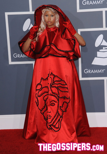 grammy awards 2012,grammy awards red carpet,diy,fashion diy,metal collar, nicki minaj