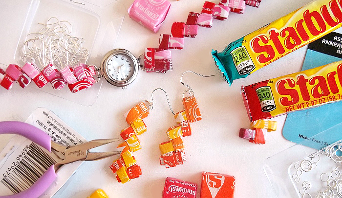 Starburst Wrapper Jewelry #VIPFruitFlavors #Shop