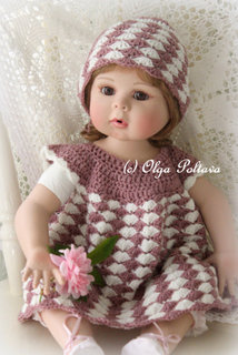 Newborn Dress and Hat Pattern Set, $1.85