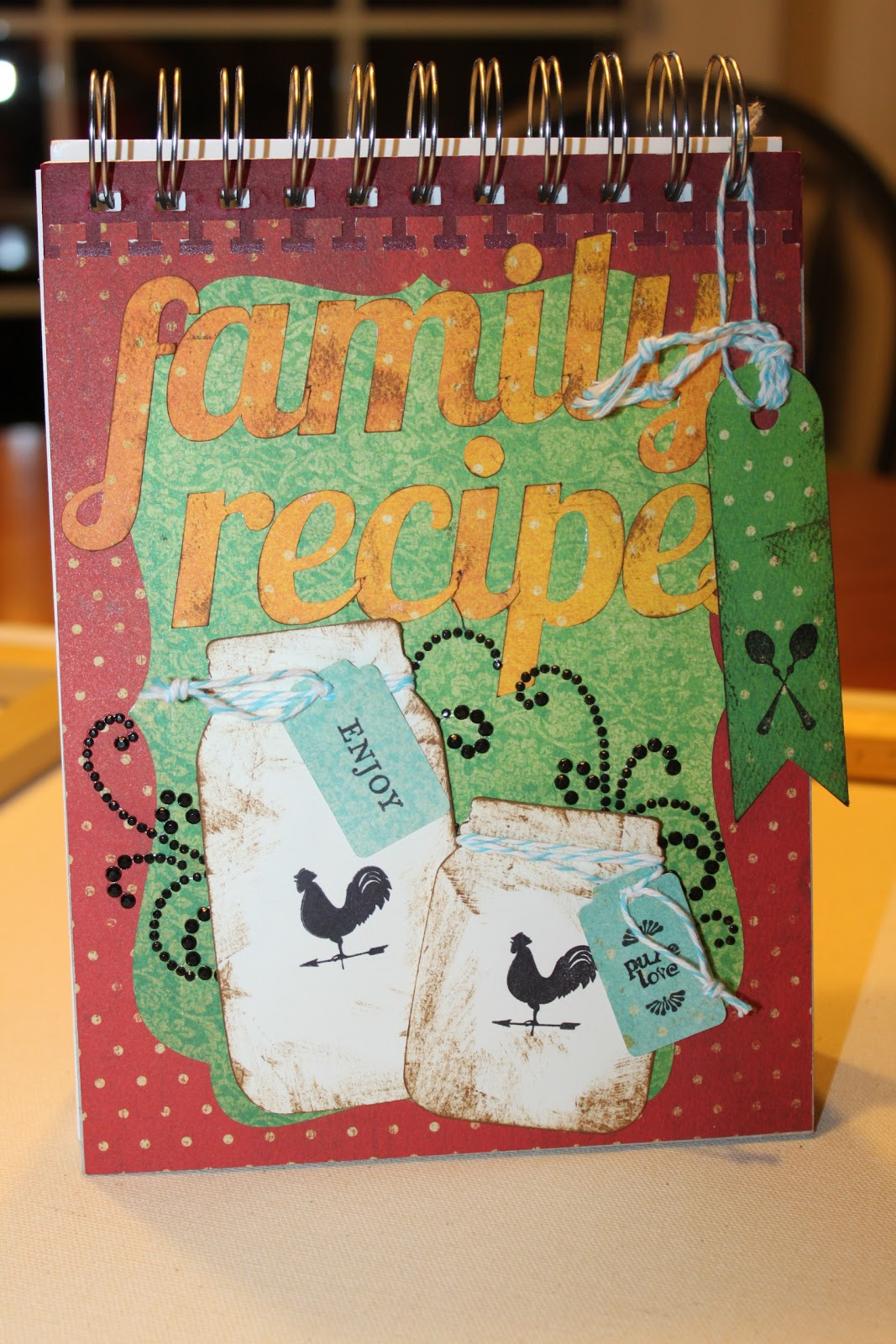 Family Cookbook Cover Ideas : Mae armstrong designs family recipe book