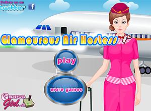 Glamourous Air Hostess