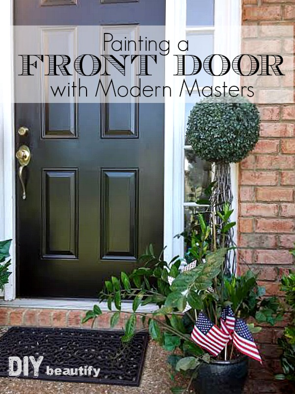 I found the perfect paint for my front door that never fades! I'm sharing all the juicy info at DIY beautify!
