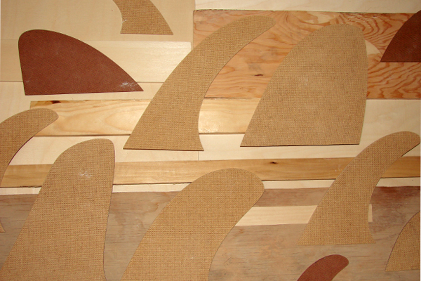 Wood custom surfboards fin templates for Surfboard fin template