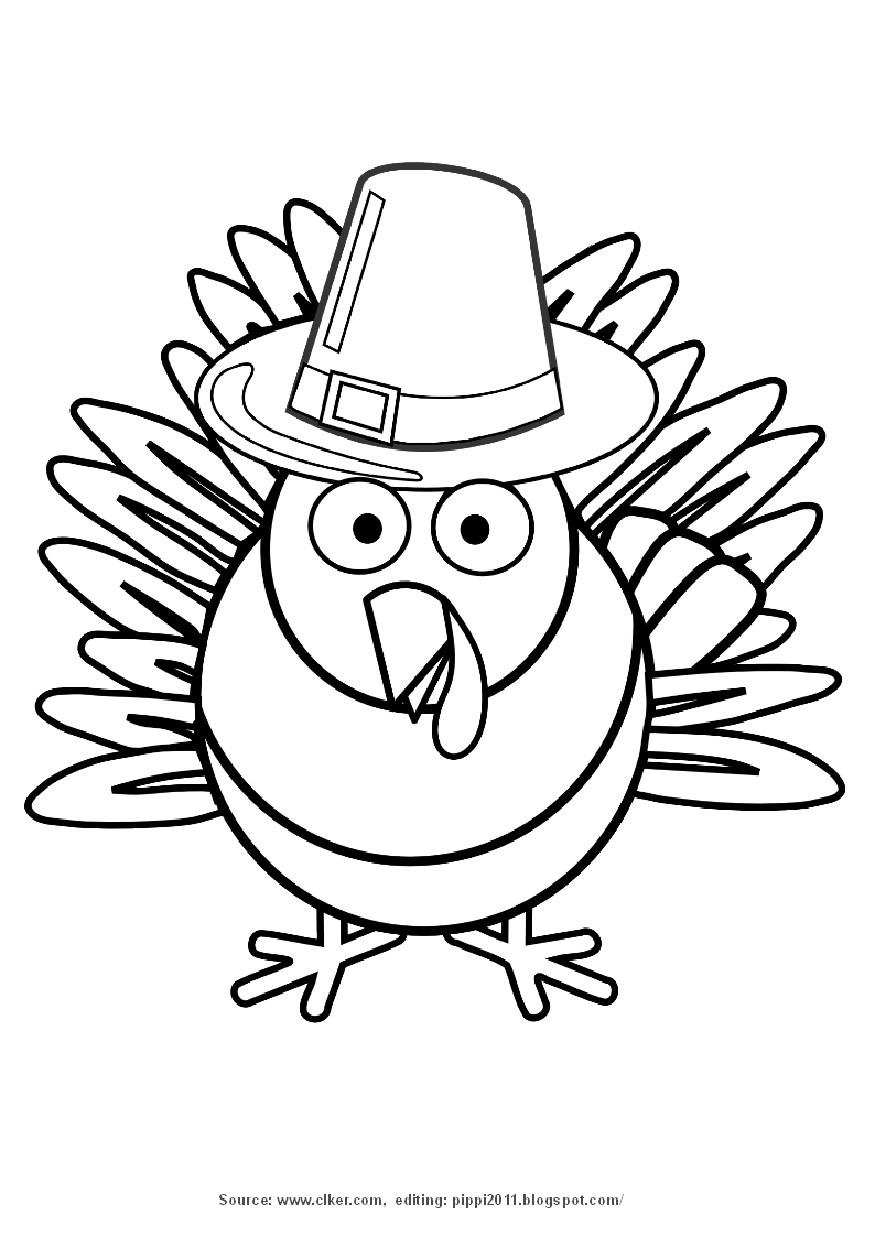 cartoon turkey coloring pages - photo#36