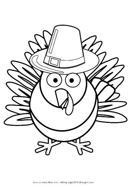 Turkey Clip Art Coloring Pages