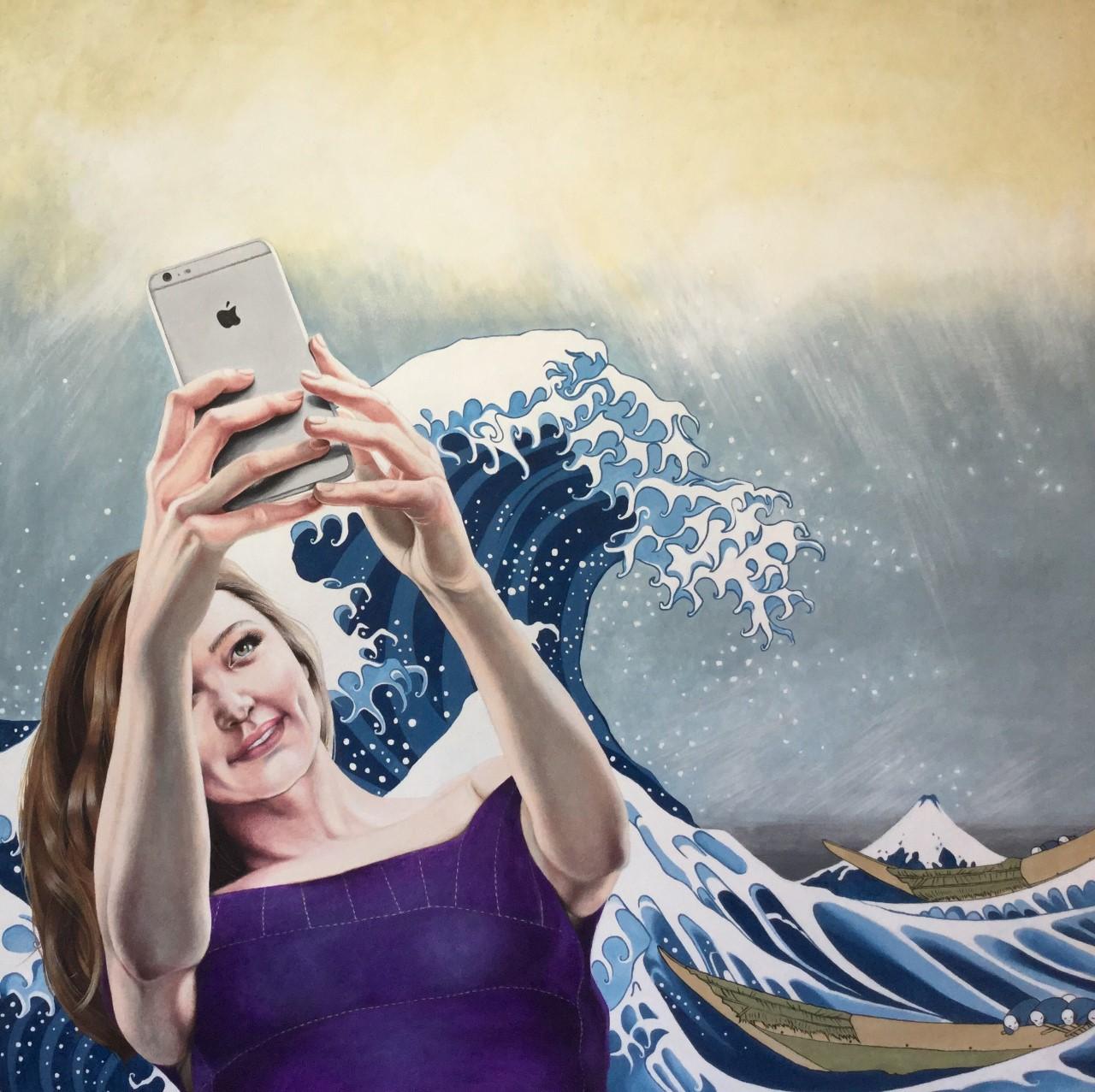Gran selfie japonés. 2017