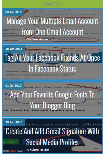 Responsive And Automated Features Posts Slider For Blogger Blog