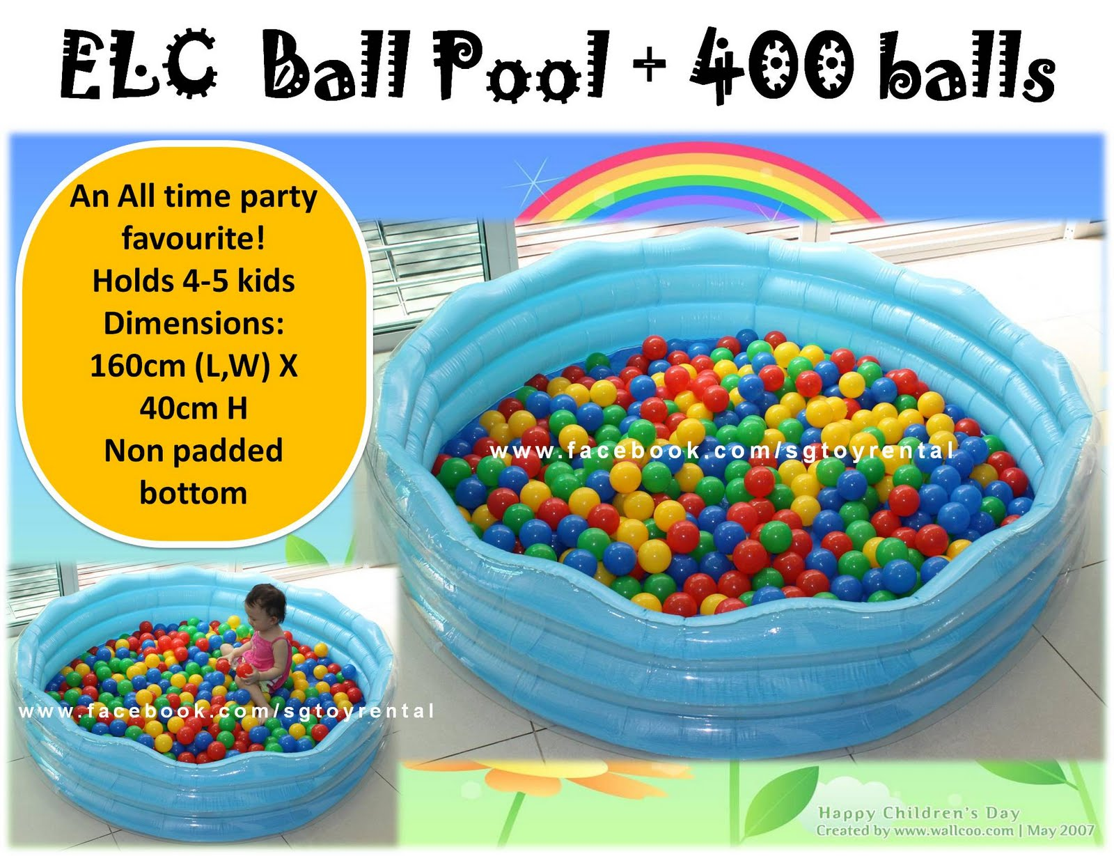 Ball in pool for Elc paddling pool