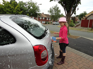 Top Ender Washing The Car