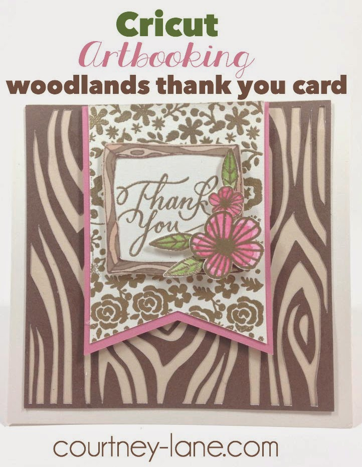 Cricut Artbooking Woodlands cartridge card
