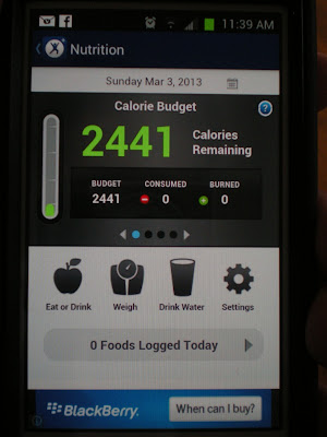 MapMyFitness exercise and food consumption tracking app