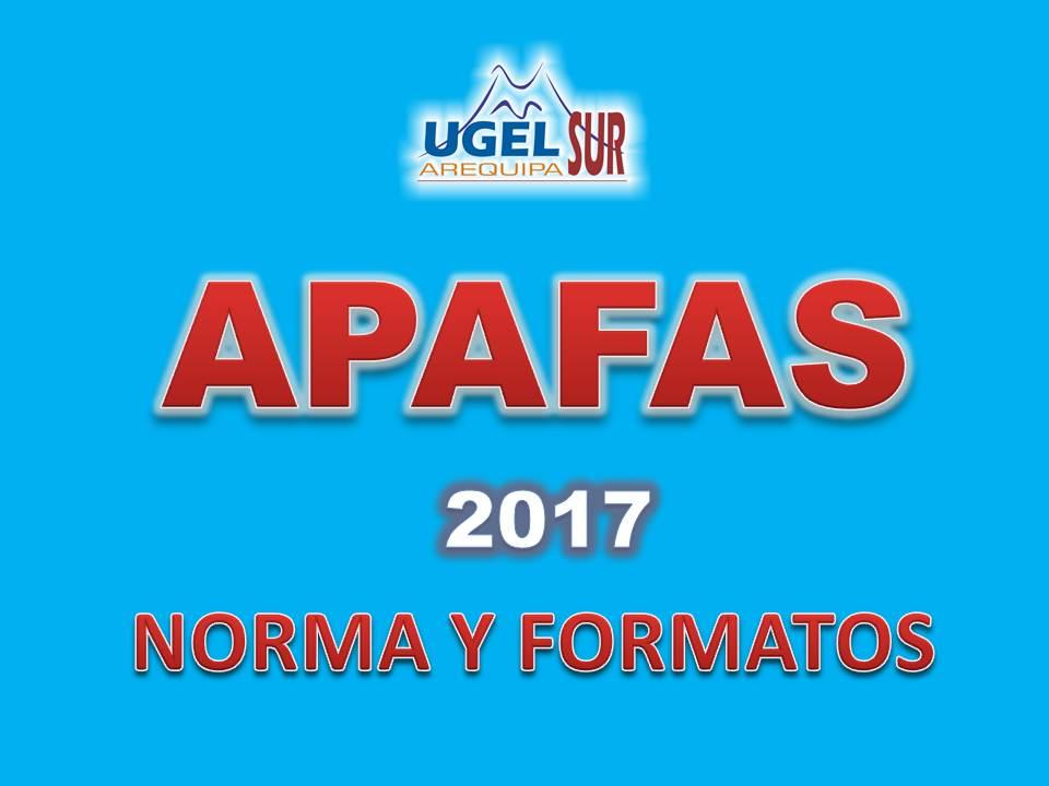 APAFA 2017 NORMA Y FORMATOS