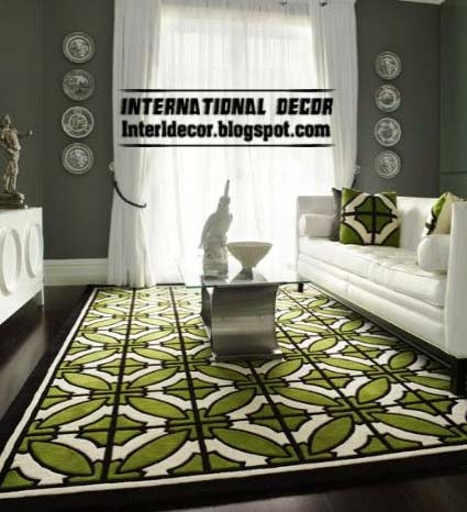 Contemporary Area Rugs 2014 Modern Green Rug For Living Room