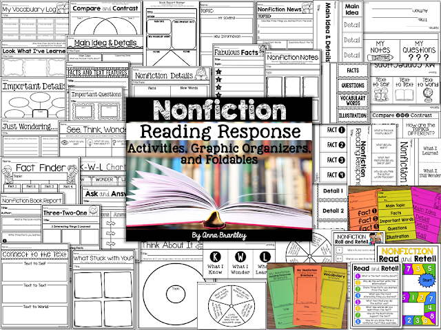 https://www.teacherspayteachers.com/Product/Nonfiction-Reading-Response-Activities-Graphic-Organizers-and-Foldables-1990390