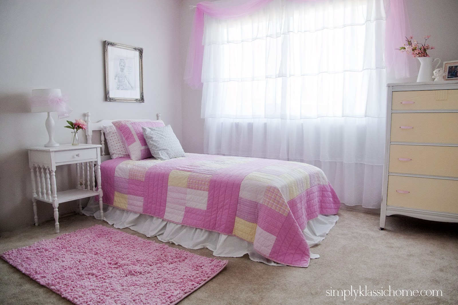 little girl 39 s princess room makeover reveal yellow bliss road. Black Bedroom Furniture Sets. Home Design Ideas