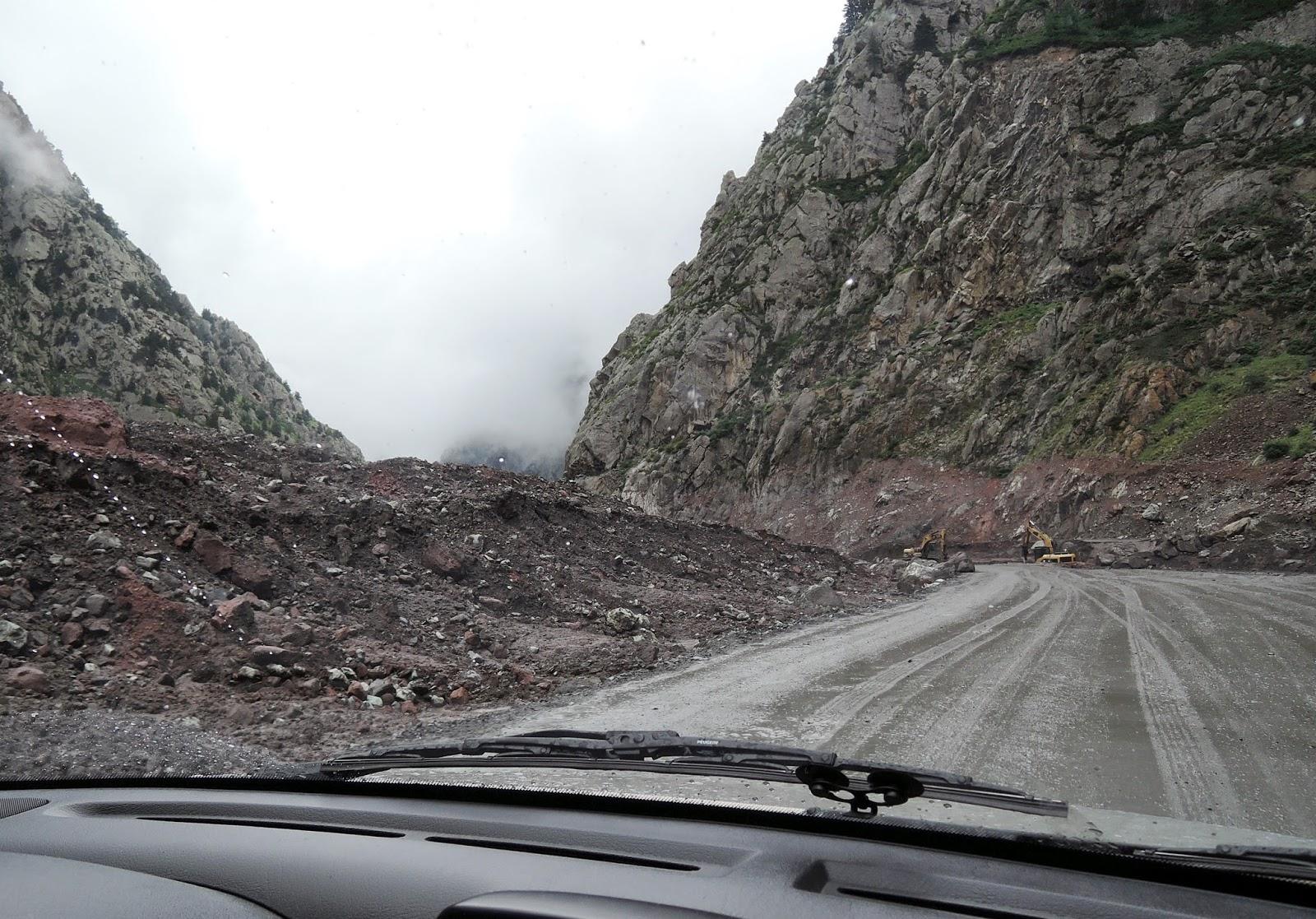 дорога после расчистки от селя