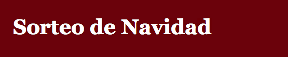 Sorteo Navideño.  Susana Bielsa