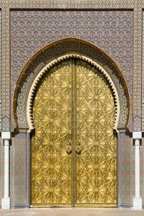Conseils d co et relooking les portes marocaines une for Decoration porte marocaine