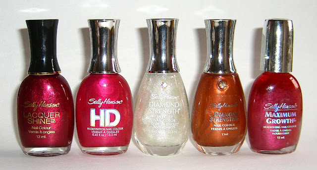 Sally Hansen - Poppy, Hi-Res, Diamonds, Bronze Yourself, Plum Pleasure