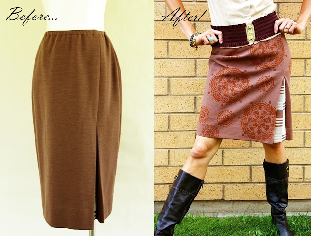 skirt refashion sewing tutorial