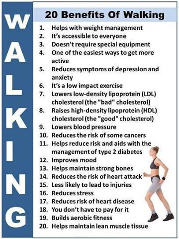 20 Health Benefits of Walking