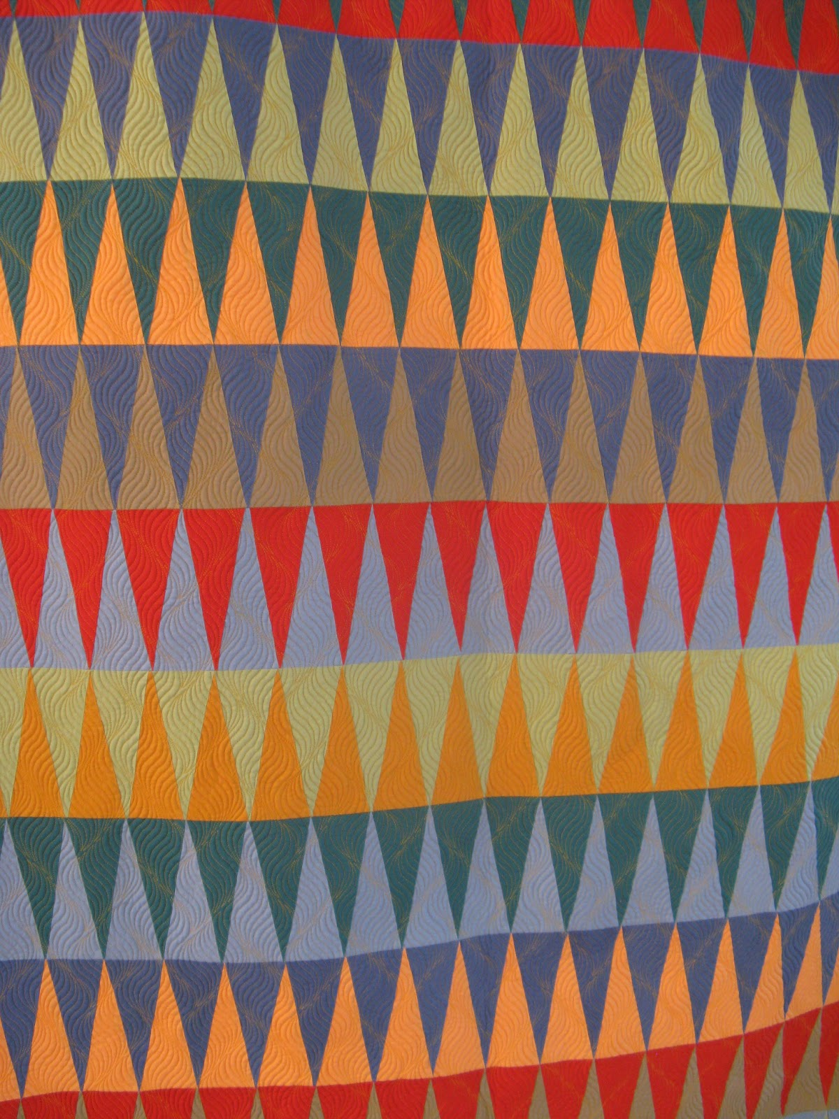 Indian Blanket Quilt Pattern | Triangles on a Roll : indian quilt pattern - Adamdwight.com