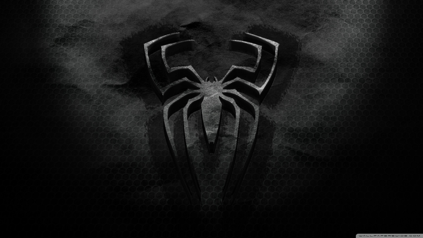 Black Logo Spiderman Wallpaper HD