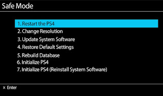 Cara Masuk Safe Mode PS4 ( Playstation 4) Dengan Mudah