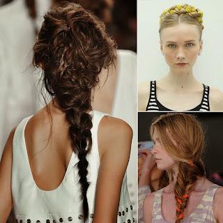 Inspiração trança penteado New York Fashion Week