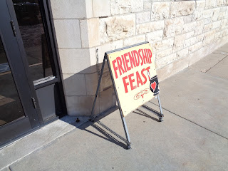 friendship feast sign in Dodge city
