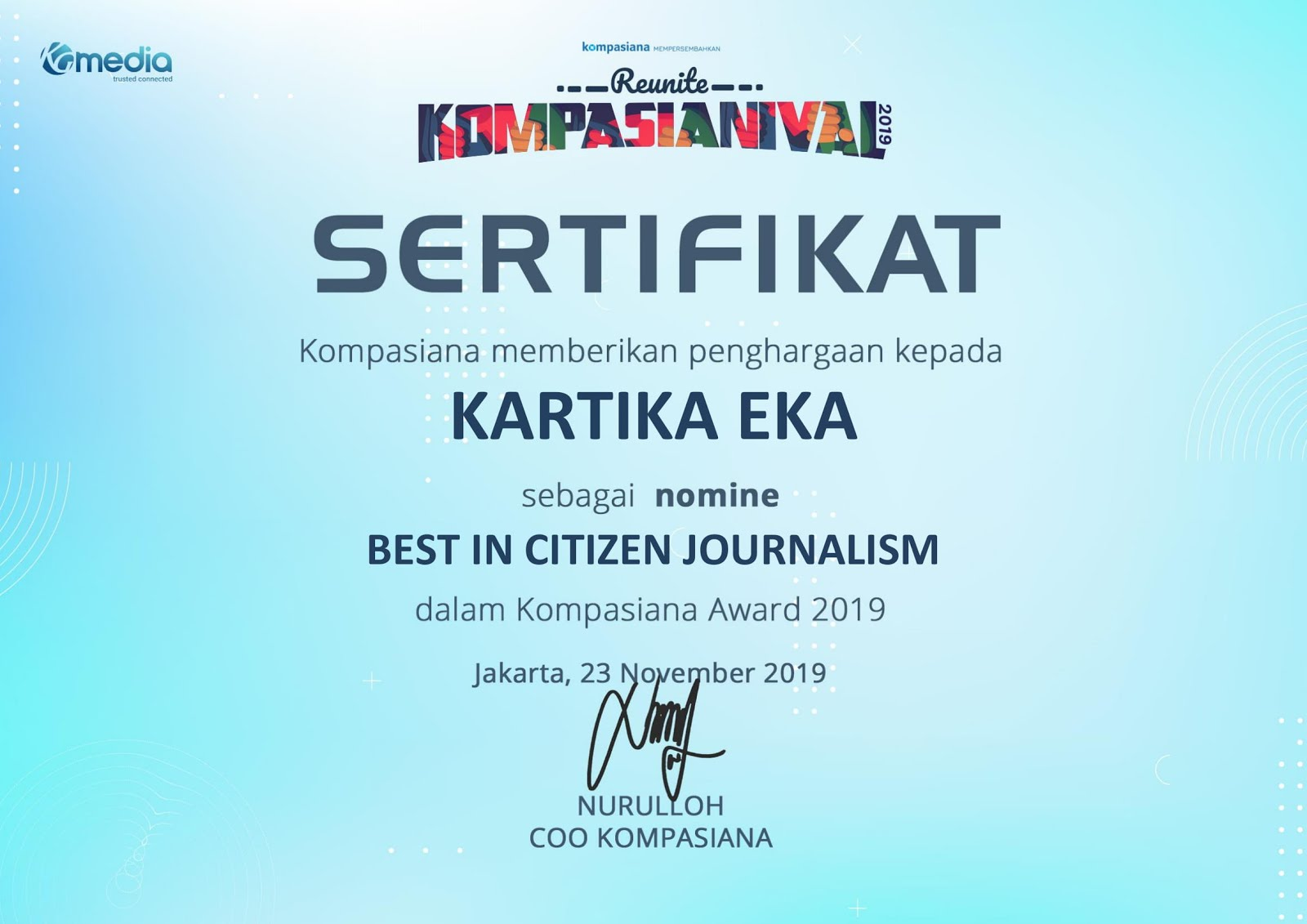 d'best citizen journalism nominee