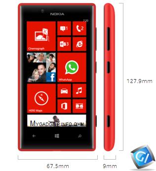 Nokia Lumia 720 specifications