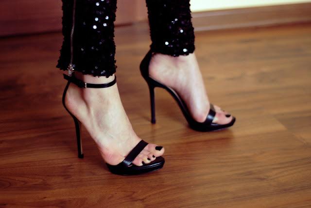 zara, black, heels, zara, czarne, paski, sandały, rocker