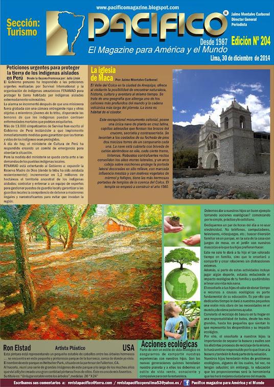 Revista Pacífico Nº 204 Turismo