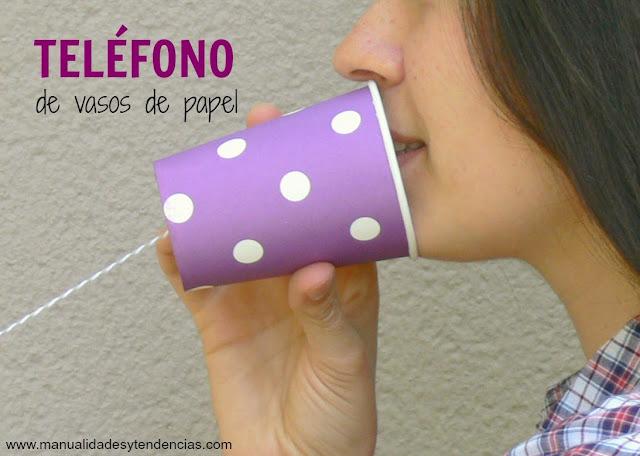 Teléfono de vasos de papel