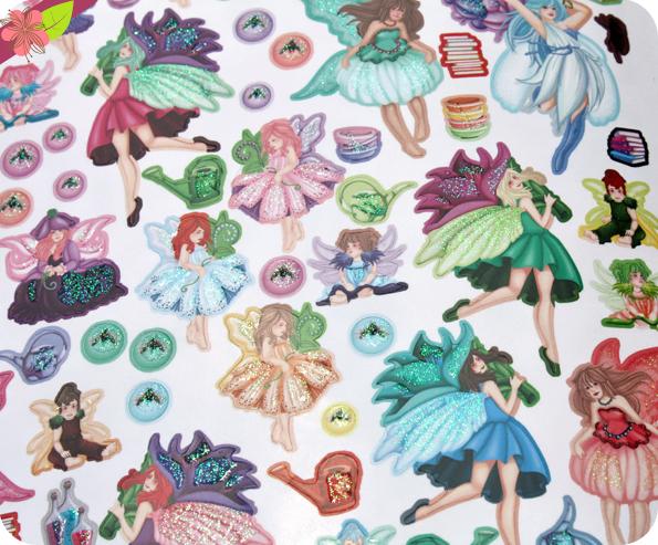 Les fées en autocollants de Laura Sommer - éditions Piccolia