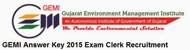 GEMI Answer Key 2015 Exam Clerk Recruitment