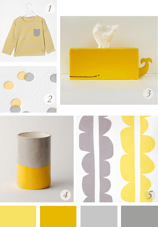 amarillo y gris , yellow and grey