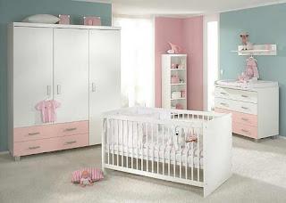 dormitorio bebé celeste rosa