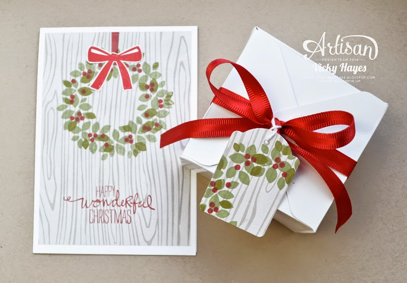 Gift wrap inspiration from UK Stampin' Up demonstrator Vicky Hayes